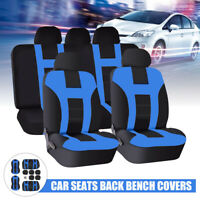 Universal Blue Car Front Seat Back Bench Covers Protectors Full Set Washable AU