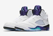 Air Jordan V Retro White New Emerald Grape Ice Black ( Fresh Prince) SIZE 12UK