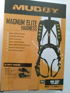 Muddy Outdoors Magnum  Elite padded Adjustable Treestand Harness System, Black