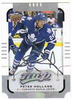 2015-16 Upper Deck MVP Silver Script Parallel #39 Peter Holland Maple Leafs