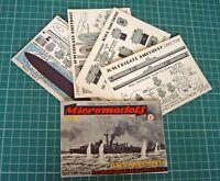 1953 Micromodels S3 HMS Amethyst RN Frigate Yangtze Incident. Vintage Original