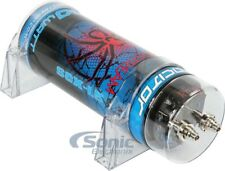 New! Soundstream SCX1.5 1.5 Farad Capacitor with LED Voltage Display | Red