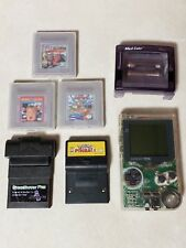 Gameboy Pocket - Clear, Game Shark Pokemon Pinball, 3 Games and Magnify Light
