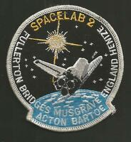 """SPACELAB 2   PATCH  3 5/8 """""""