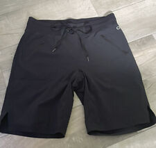Gap Fit Hiking Exercise Shorts Women's Sz Xs Jet Black Elastic Waist Cuffed B1
