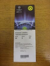 13/09/2011 Ticket: Borussia Dortmund v Arsenal [Champions League] (folding/creas