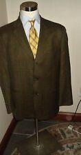 Hugo Boss Blazer Sport Coat Jacket  42R Wool / Cashmere  Lt Brown Window Pane