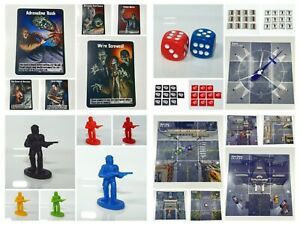 Zombies!!! Tabletop Game Pieces ~ Map Tiles ~ Life Bullets Tokens ~ Cards ~ Dice