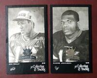 2003 Donruss Gridiron Kings (Mini-Black) JIM KELLY / ANDRE JOHNSON #/600  *RARE*