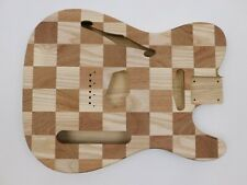 Ash and Sapele T-Style Guitar Body Chambered
