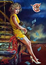 NICOLE KIDMAN / LARGE SUPER HEAVYWEIGHT ARCHIVAL RICK MELTON FINE ART PRINT