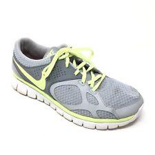 Women's Nike Flex 2012 Shoes Sneakers Size 11 Running Athletic Gray Yellow U15