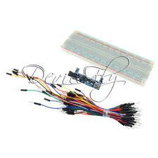MB102 Power Supply Module 3.3V 5V+MB102 Breadboard Board 830 Point+Jumper cables
