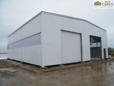 Stahlhalle Carlo 20x40x5 Lagerhalle Dach Trapezblech Kalthalle Schneelasthalle