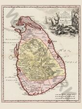 BALDA RELANDI MAP CEYLON SRI LANKA PRINT ONLY ART POSTER HP3665
