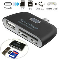 4 in 1 USB 2.0 Type-C Card Reader to SD/TF/USB/Micro USB OTG HUB Adapter for PC#