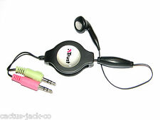 COMPACT SINGLE EARPHONE + MIC TELEPHONY HEADSET, EXTENDABLE LEAD 0.3M TO 1.4M
