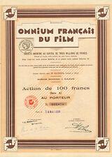 Omnium Francais du Film SA, accion, Paris, 1928