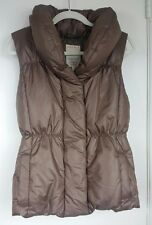 Esprit Womens Vest Down Feather Puffer Jacket Olive Brown Quilted Warm Size 8
