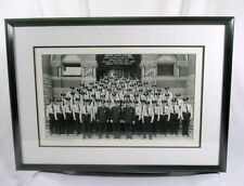 "1957 Detroit Police Academy Recruit Class Real Photo Professional Framed 24""x17"""