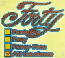 Original Vintage Forty fantastic foxy fancy-free all the above Iron On Transfer