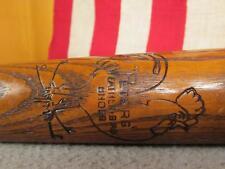 "Vintage 1930s Peters Weather-Bird Shoes Wood Baseball Bat Promo 33"" Antique Nice"