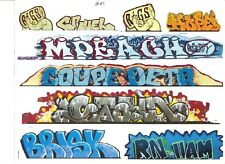 G SCALE GRAFFITI DECALS G21 FROM REAL GRAFFITI PHOTOS