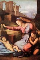 Raphael Madonna with the Blue Diadem Fine Art Poster 24x36 inch