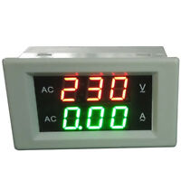 AC 500V 50A Voltmeter Ammeter Volt Amp Tester Gauge Meter Red+Green LED Digital