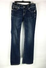 Miss Me Women Jeans Size 27 Blue Boot Distressed Embellished Pockets