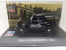 1/43 CAL386 SIMCA 5 FOURGONNETTE 1936 NEGRO
