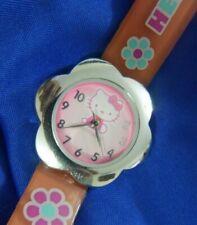 HELLO KITTY SANRIO HK959A MZB SILICONE BAND silverTONE ESTATE watch, new bat A10