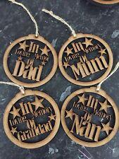 Tree Decoration/bauble In Loving Memory Of Mum Mdf