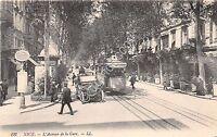 Cartolina - Postcard - Nice - Avenue de la Gare - Auto D'epoca - Tram-  anni '10
