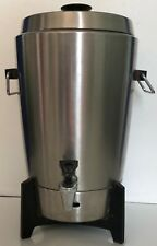 Vintage West Bend 12 - 30 Cup Coffee Pot Urn Stainless Made USA 27210E NICE!!