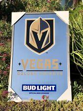 """Bud Light Las Vegas Golden Knights Nhl Hockey Beer Bar Man Cave Mirror """"New"""""""