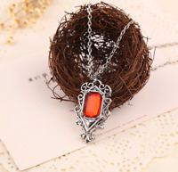 Red Glass Amor Pendant Jewelry Shadow hunters Necklace Valentine Fashion Gift