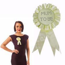 Baby Shower Diamante Mum to Be Rosette Badge - Yellow