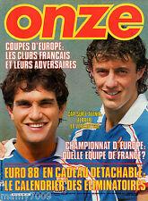 ONZE=N°129 9/1986=GENGHINI=VITKOVICE=BORDEAUX=NANTES=LENS=PSG=TOULOUSE=FRANCIA