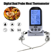 Wireless Smoker Remote Dual Probe Digital Barbecue Meat Thermometer Alarm Timer