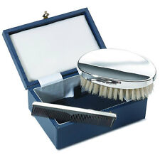 NEW - Sterling Silver - 2 Piece BRUSH and COMB Set - Boxed