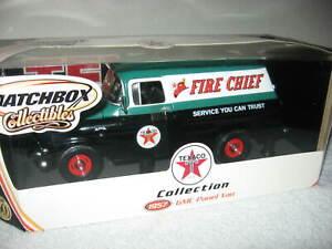 TEXACO FIRE CHIEF 1957 GMC PANEL DELIVERY VAN 1:18 MATCHBOX OPENING HOOD & DOORS