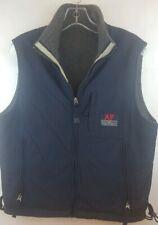 ABERCROMBIE & FITCH Mens Sz L Outdoor Vest Reversible Gray/Black Nylon/Fleece
