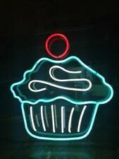 Cup Cake Homemade Neon Light Sign Bedroom Decor Man Cave Beer Bar Pub