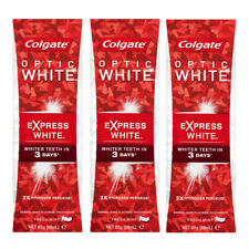 3x Colgate Optic Express White 85g Whitening Toothpaste w/hydrogen peroxide