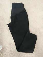 Maternity Full Panel Legging/Jegging Jeans L.12/14 Black DENIM Back Pockets