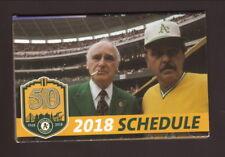Dick Williams & Charlie Finley--2018 Oakland Athletics Schedule--Cache Creek
