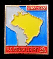 Brazilian Communist Party Lapel Pin Badge 1972