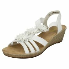 Velcro Wedge Floral Sandals for Women