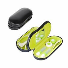 Balvi CONTACT LENS and GLASSES CASE - 2 in 1 SPECTACLES Dual Case - Metal BLACK